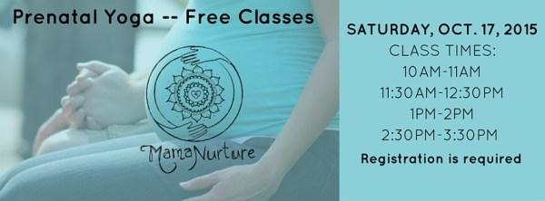 Prenatal Yoga - Free Classes for fb event 2015 - correct