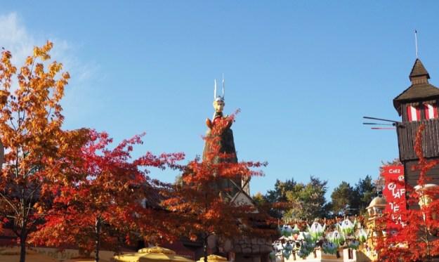 Parc Asterix en automne