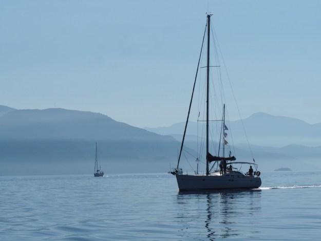 en voilier à Corfou