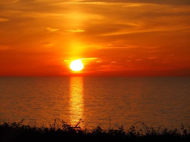 coucher du soleil veules