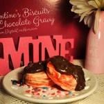 Valentine's Biscuits with Chocolate Gravy