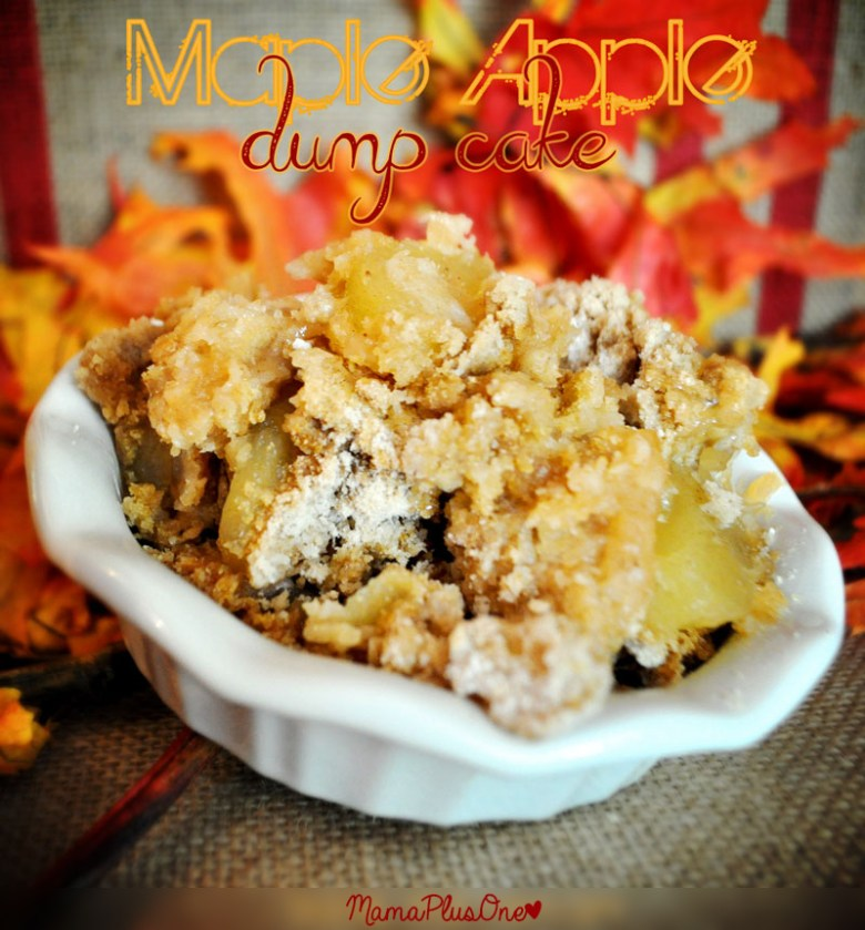 This maple apple dump cake is so easy and the perfect fall recipe. Who doesn't love a good apple recipe in the fall? And it's so easy-- just dump and bake!