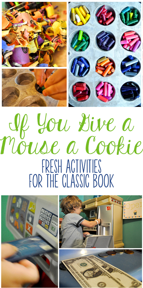 Looking for If You Give a Mouse a Cookie activities? These kids activities and kids crafts for the classic book are awesome! The post even has some other books that tie in really well!