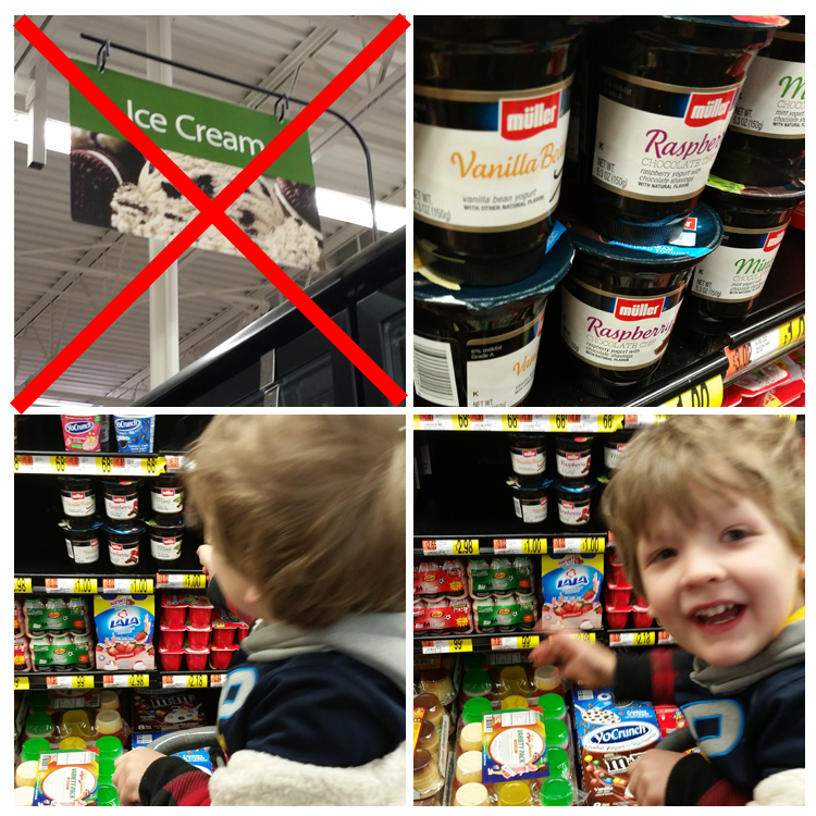 Muller Ice Cream Inspired Yogurt at Walmart. #ad #collectivebias #mullermoment