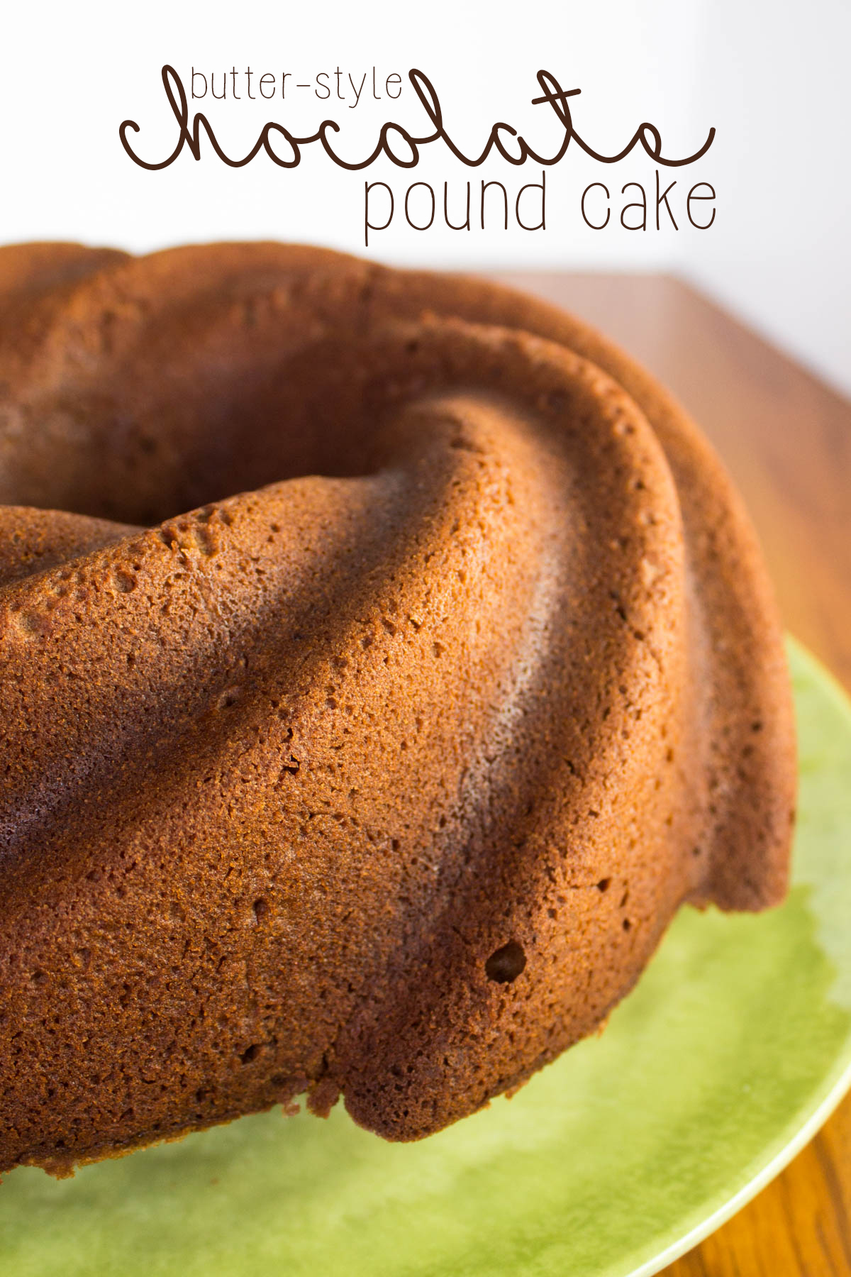 Chocolate Pound Cake, Butter-Style: How to create a lighter pound ...