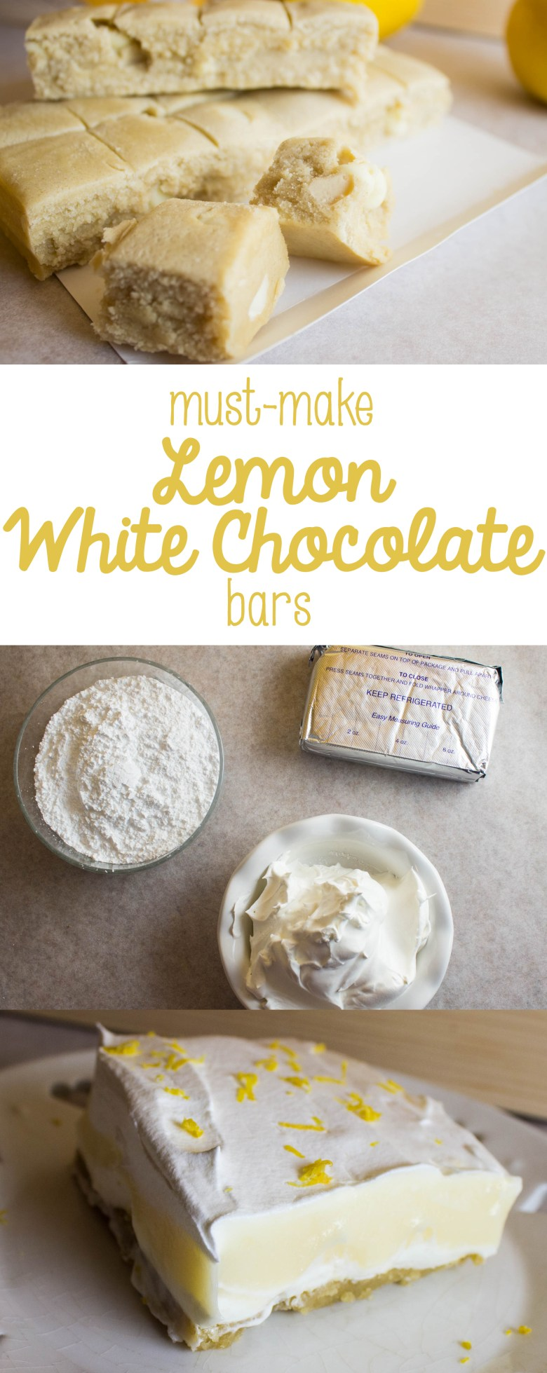 The Easter season can be crazy busy... drop in guests, fitting meals between egg hunts and events and beautiful weather. Make life easier at Easter by getting your #EasterEssentials taken care of with Nestle! Try these must-make lemon white chocolate bars, using pudding, whipped cream, and lemon white chocolate chip Toll House cookie dough! They're quick and easy, so you can get back to your busy season. #ad