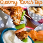 Barbecue Chicken Skewers with Creamy Ranch Dip