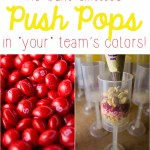 No-Bake Skittles Push Pops in YOUR Team's Colors!