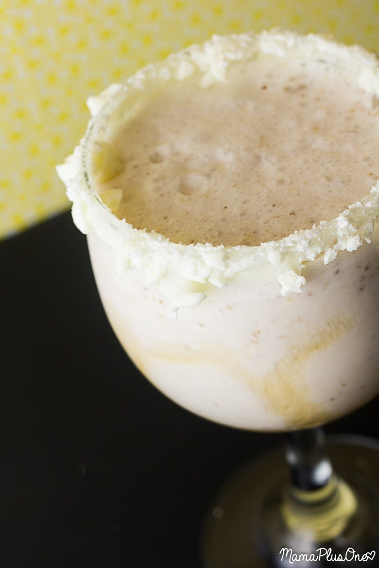Looking for a fun twist on your average mudslide? Here's a maple cactus mudslide mocktail, the perfect frozen blended treat! With white chocolate, maple syrup, and a splash of cactus water, it's everything you want in a mudslide and then some! This one is perfect for brunch! | Mocktail Recipe | Maple Syrup | Brunch drink |