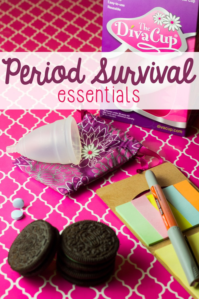Periods sometimes suck, but they don't have to. A few period survival essentials can help, and I've got some you'll want to tell all of your friends about. | vaginal health | periods and menstruation | the care and keeping of your body | #PeriodConfidence #TryTheDivaCup [ad]