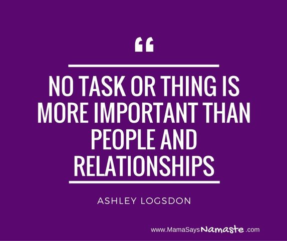 no task or thing is more important than