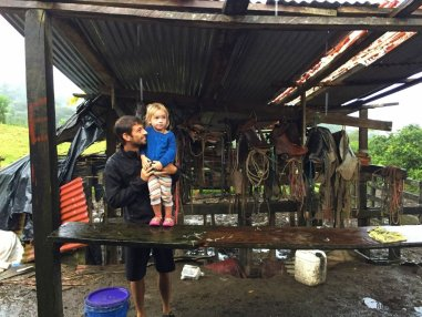 One of the places we stayed at was a working farm - we milked the cows for our coffee creamer that morning!