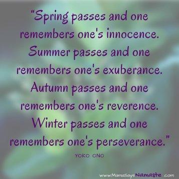 Yoko Ono - Spring passes
