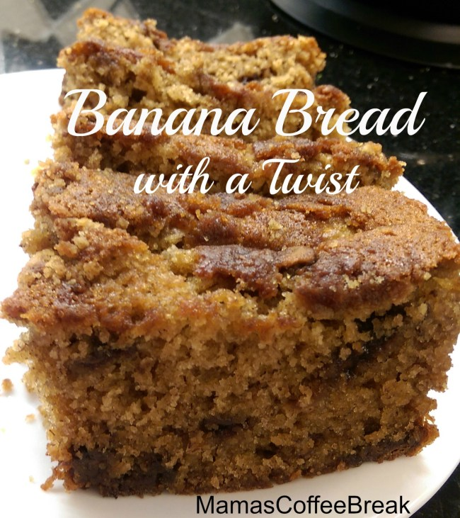 Banana Bread with a twist www.mamascoffeebreak.com