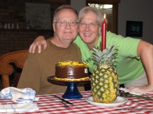 David 65 Birthday cake and pineapple 07062012