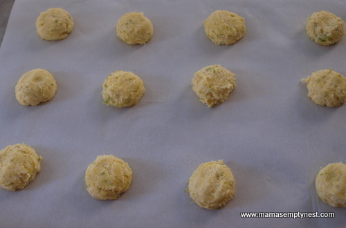 Cornmeal Lime Cookies ready to bake