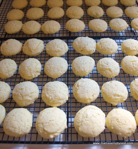 Cornmeal Lime Cookies baked