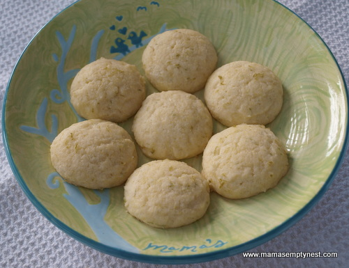 Cornmeal Lime Cookies ready to eat
