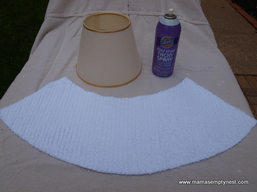 Diy new lampshade covers mamas empty nest diy lampshade cover 5 aloadofball