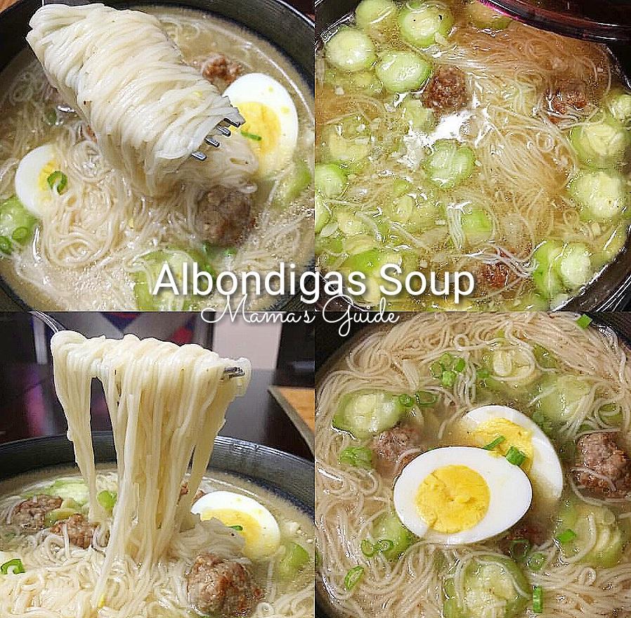 Mama's Albondigas Soup ( Misua Patola Meatballs)