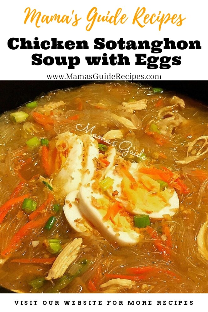 Chicken Sotanghon Soup with Eggs