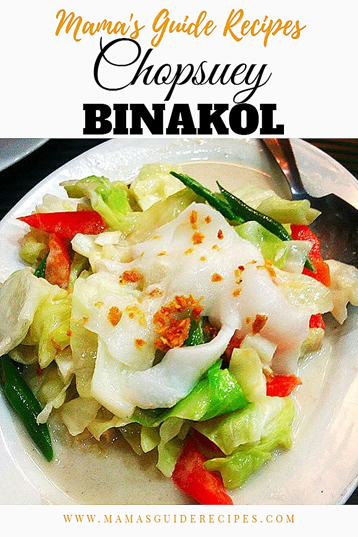 Chopsuey Binakol Recipe
