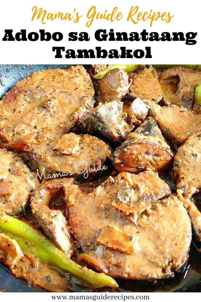 Adobo sa Ginataang Tambakol