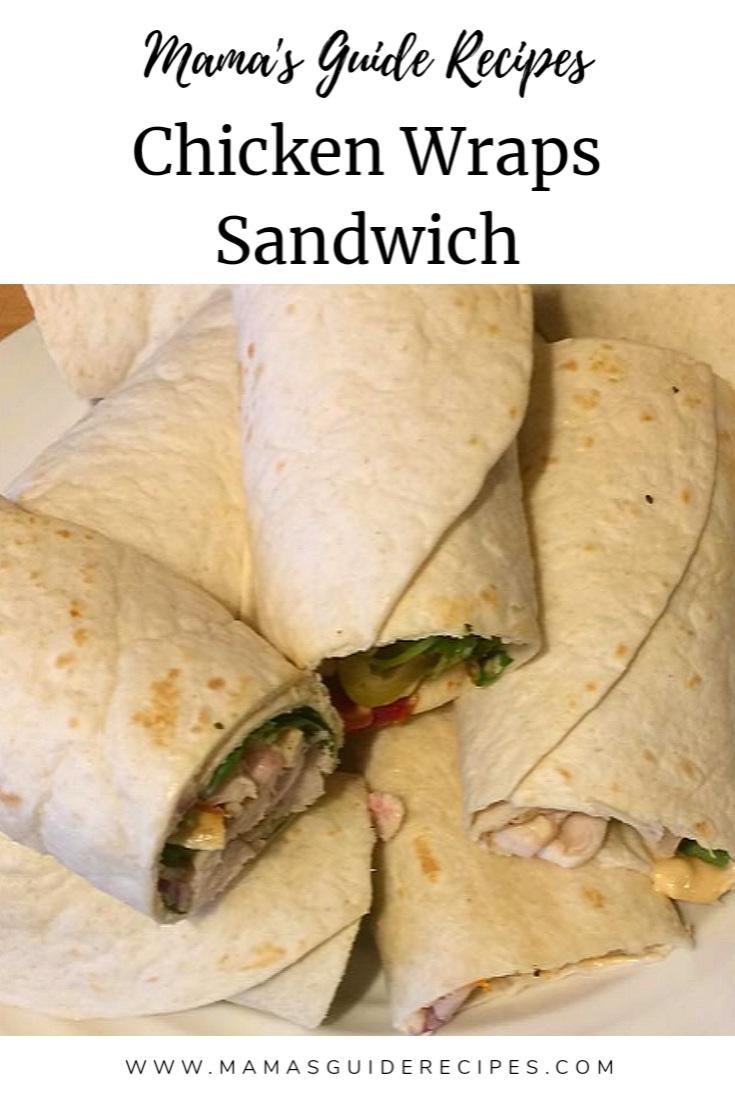 Chicken Wraps Sandwich