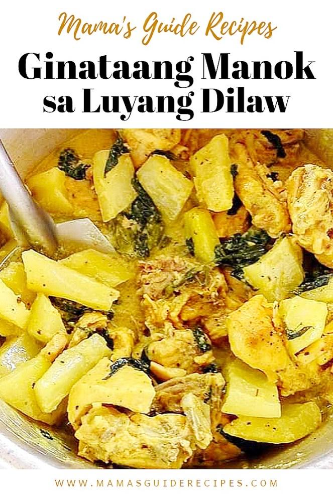 Ginataang Manok sa Luyang Dilaw