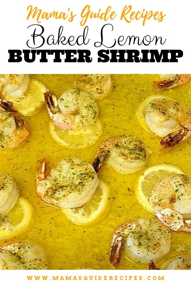 Baked Lemon Butter Shrimp
