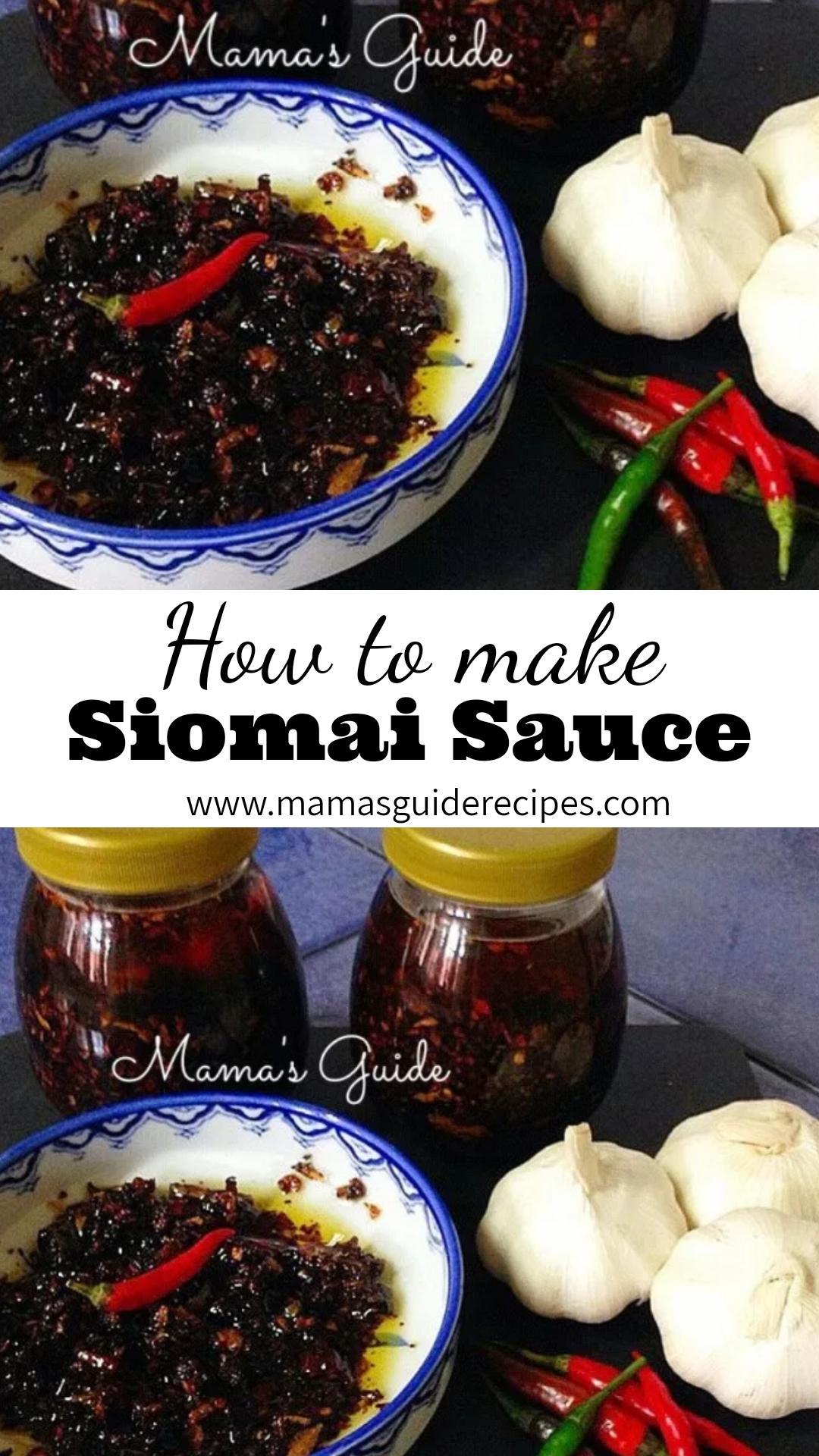 How To Make Homemade Siomai Sauce