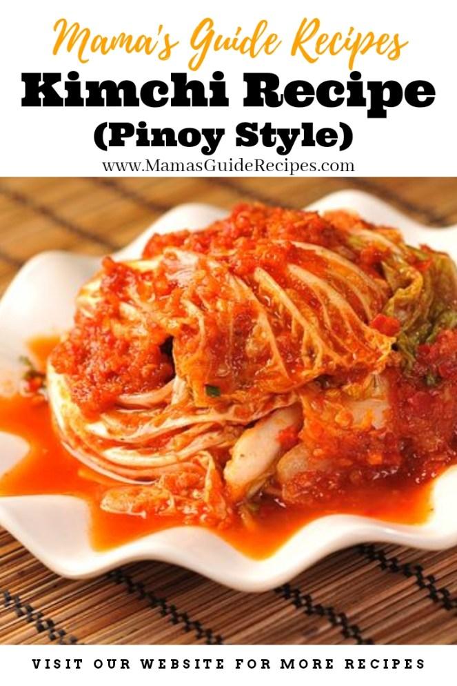 Kimchi Recipe (Pinoy Style)
