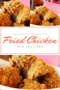 Fried Chicken ala Jollibee, Chicken joy recipe, crispy fried chicken, how to cook crispy fried chicken