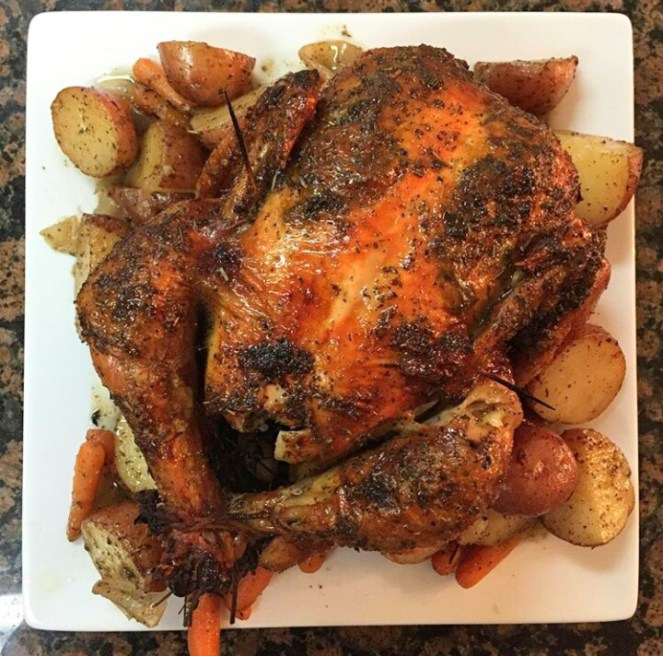 Herb-Roasted Chicken with Seasoned Vegetables