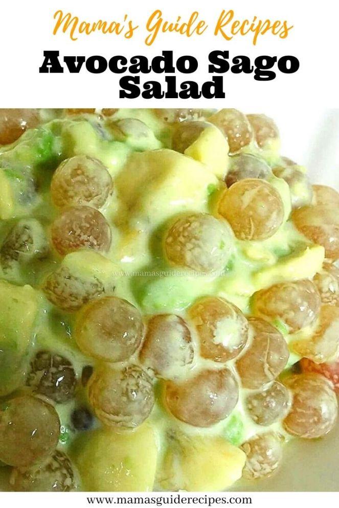 Avocado Sago Salad