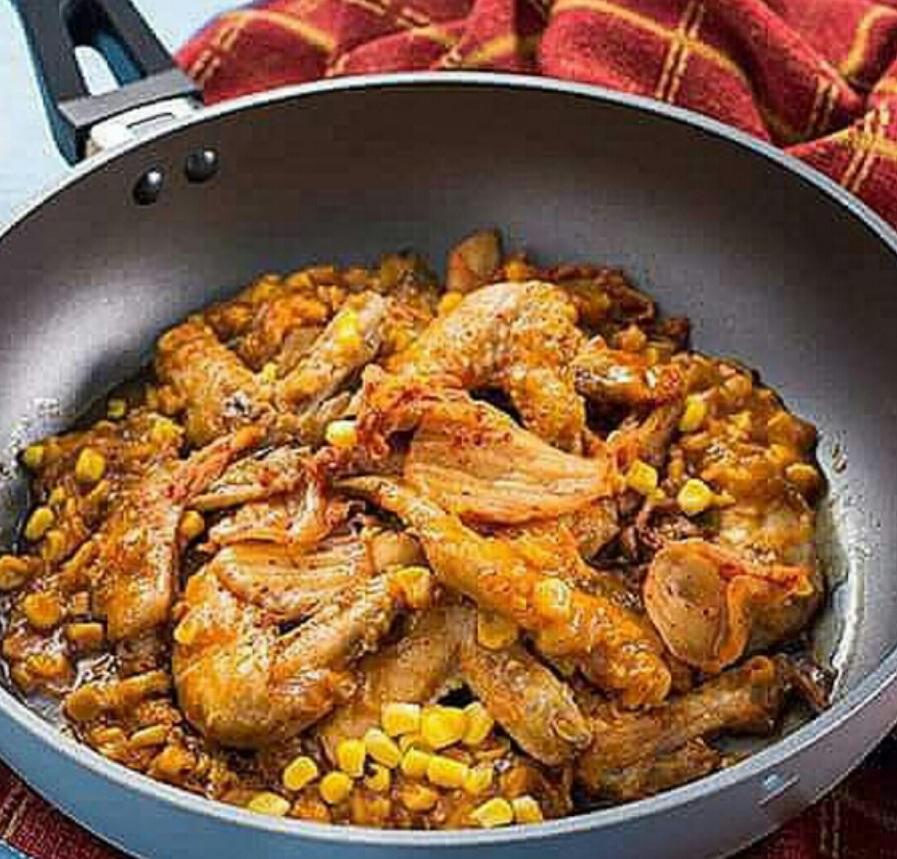 Honey Glazed Kimchi Chicken