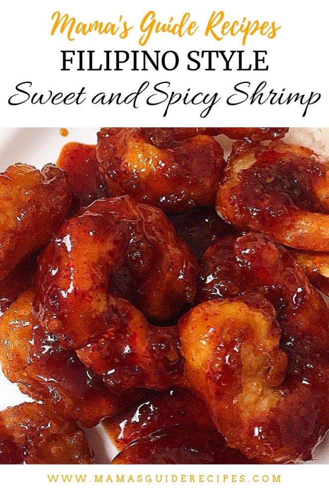 Filipino Style Sweet and Spicy Shrimp