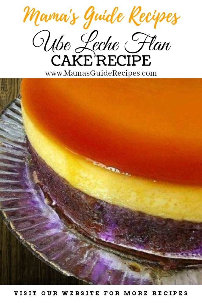 Ube Leche Flan Cake Recipe