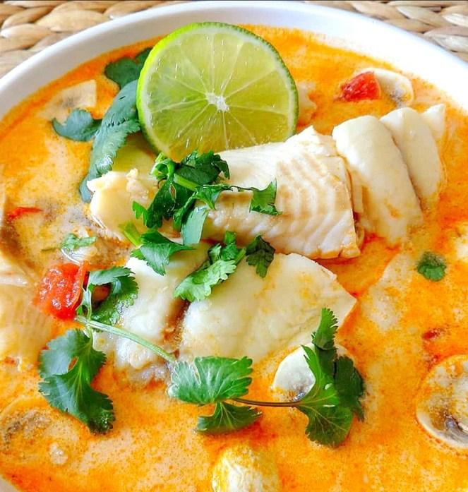 Tom Yum Pla (Thai Fish Soup)