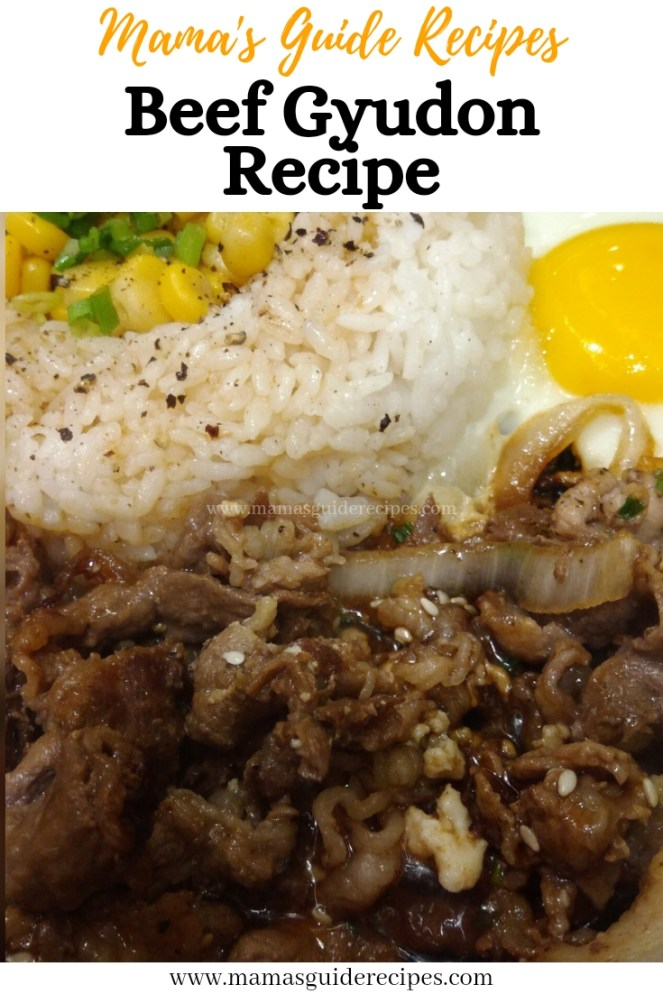 Beef Gyudon Recipe