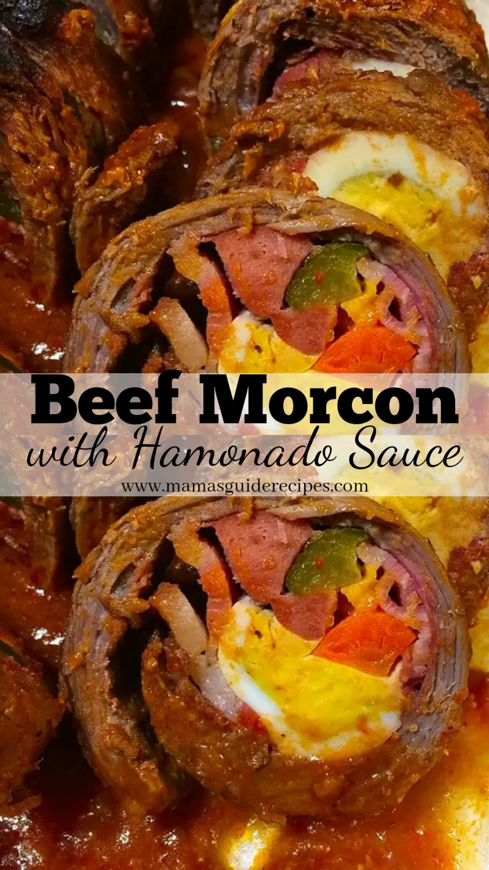 Beef Morcon with Hamonado Sauce