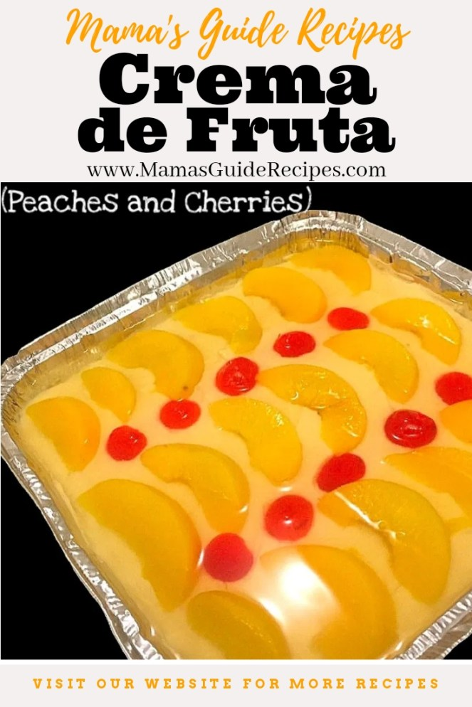 Crema de Fruta (Peaches and Cherries)