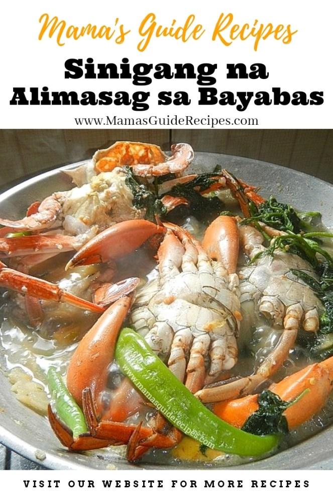 Sinigang na Alimasag sa Bayabas