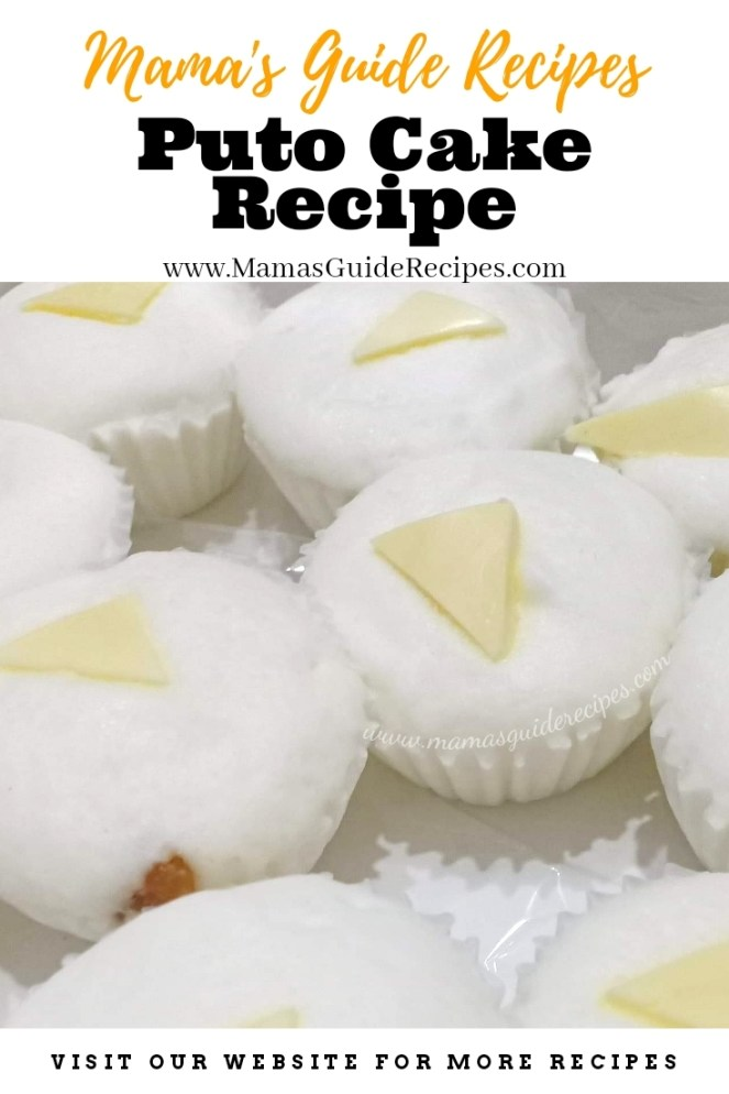 Puto Cake Recipe