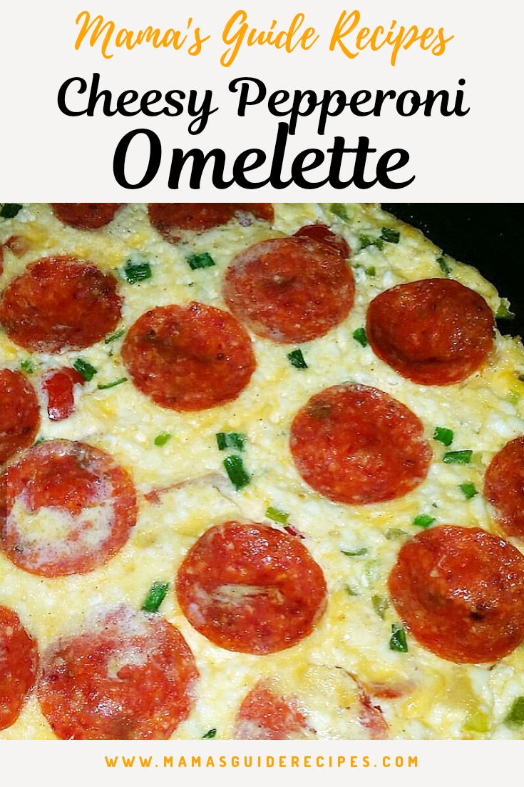 Cheesy Pepperoni Omelette