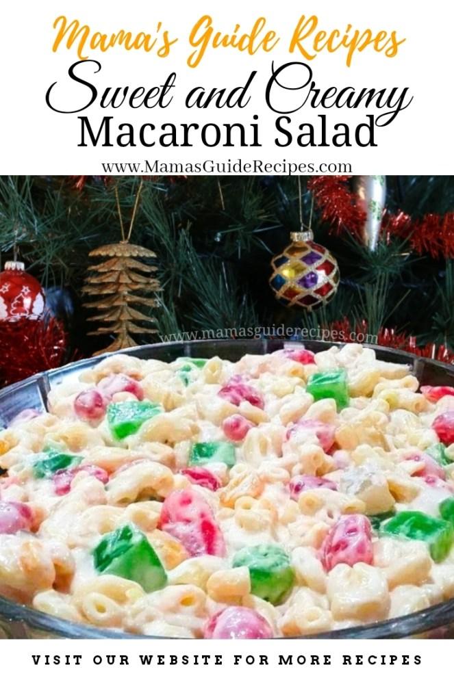 Sweet and Creamy Macaroni Salad