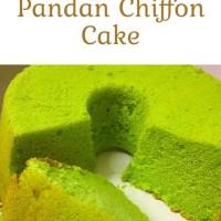 Pandan Chiffon Cake Recipe