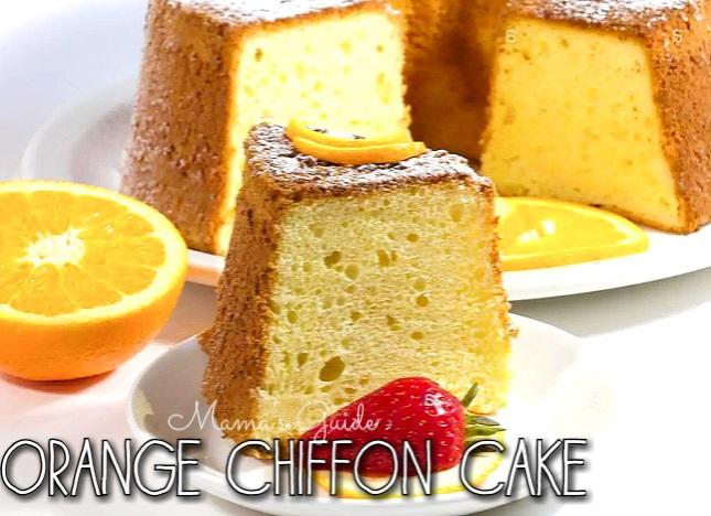 Orange Chiffon Cake Recipe, cake recipe, how to bake a chiffon cake,