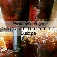 Sago at Gulaman Recipe