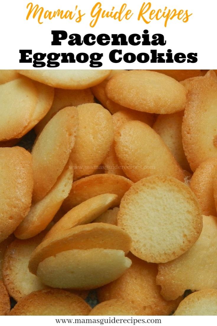 Pacencia Eggnog Cookies